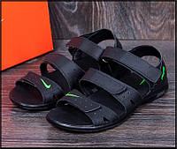 Мужские кожаные сандали Nike ACG Black черные