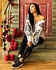 Блуза женская с черно серой вышивкой Жарптица, фото 6