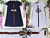 Детское платье в стиле gucci декорировано аппликацией, р-ры на 9, 10, 11, 12  лет белое арт 6205-1, фото 2