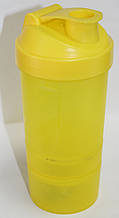 Стакан - шейкер, матовый, желтый, 400 мл