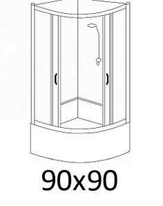 Гідробокси розміром 90х90