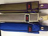 Женский зонт полуавтомат с каймой на 9 спиц  цвет темно-серый, фото 5