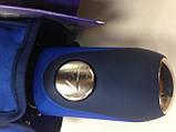 Женский зонт полуавтомат с каймой на 9 спиц  цвет темно-серый, фото 6