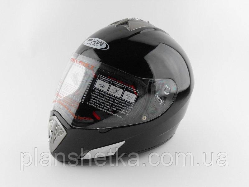 Шолом для мотоцикла Hel-Met 180 чорний глянець