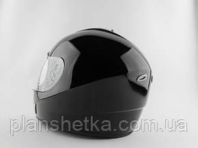 Шолом для мотоцикла Hel-Met 180 чорний глянець, фото 2