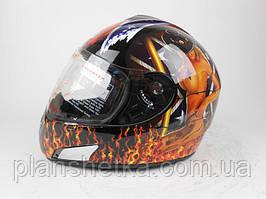Шлем для мотоцикла Hel-Met 180 черный с девушкой