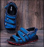 Мужские кожаные сандалии Nike Summer life blue синие