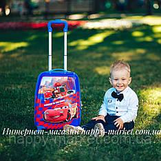 Чемодан детский дорожный качество Эконом 4 колеса 45 см ручная кладь Тачки 1882-7\0486-6\19-012-10