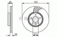 Гальмівний диск VOLVO/LAND ROVER Freelander,S60,S80,V70,XC70 2,0-3,2 06- F Код товара 0986479620
