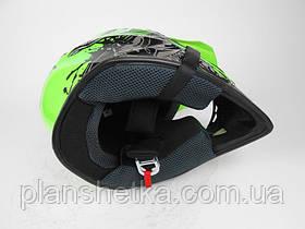 Шлем для мотоцикла Hel-Met 116 кроссовый Neon Yellow, фото 3