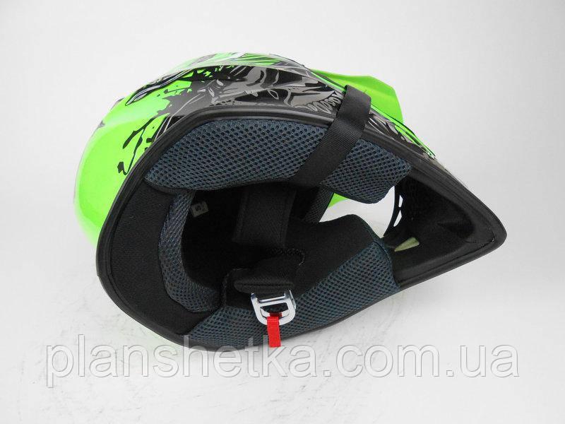 Шлем для мотоцикла Hel-Met 116 кроссовый Neon Yellow, фото 4