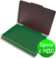 Подушка штемпельная, настольная KORES, размер 110х70 мм, зеленая K71571