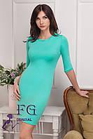 """Элегантное платье """"Илария"""". Распродажа модели мята, 44"""
