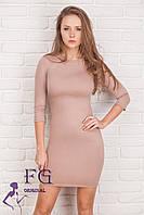 """Элегантное платье """"Илария"""". Распродажа модели капучино, 46"""
