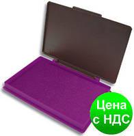 Подушка штемпельная, настольная KORES, размер 110х70 мм, фиолетовая K71576