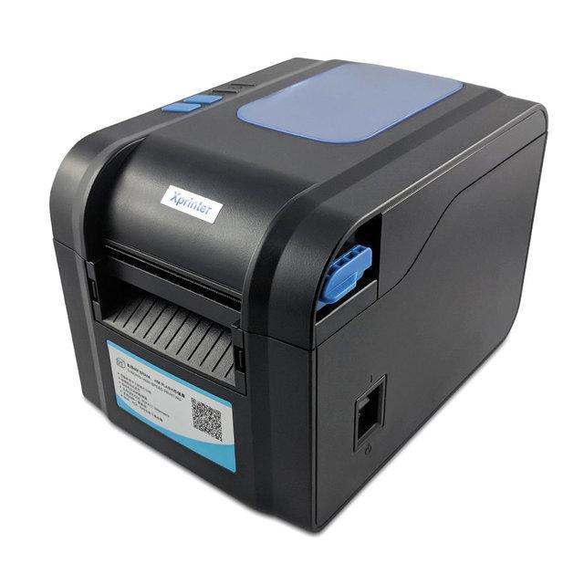 Термопринтер Xprinter XP-370B универсальный принтер для чеков и этикеток 16-82мм поддержка QR и 1D кода