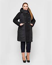 Пальто з вареної шерстю жіноче зимове 3043 розмір 46-54, фото 2