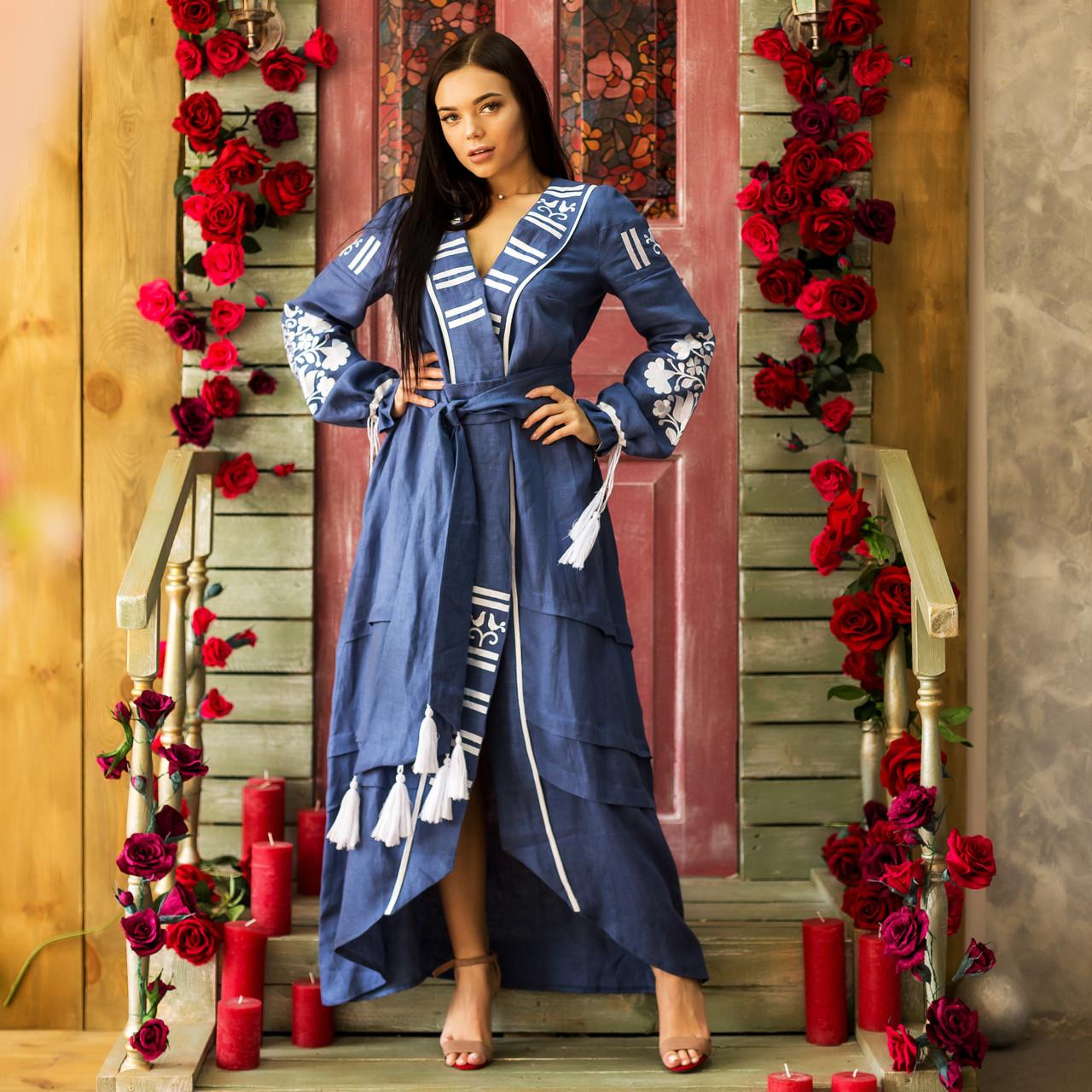 Современное женское платье вишиванка Отаманша
