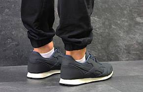 Мужские кроссовки Reebok,кожаные ,темно синие  45р, фото 3