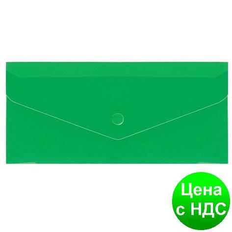 """Евроконверт Е65 прозрачный на кнопке, 180 мкм, фактура """"глянець"""", зеленый N31306-04, фото 2"""