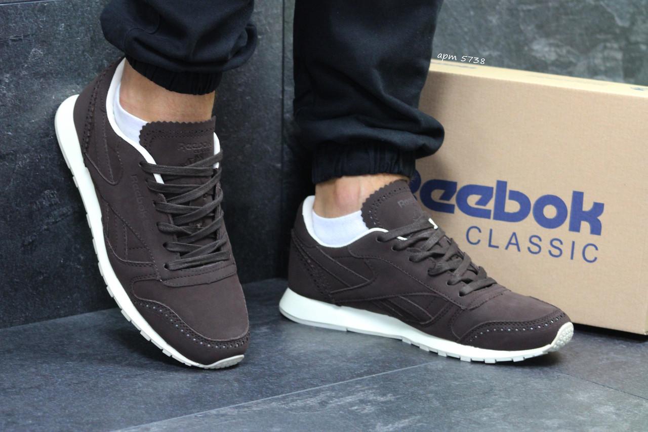 e01f568e1 Мужские кроссовки Reebok,кожаные,коричневые: продажа, цена в ...