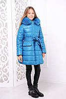 Детская зимняя куртка «Тринити» для девочек 7-16 лет (р. 32-40 / 122-146 см) ТМ MANIFIK 2 цвета