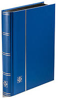 Альбом для марок Leuchtturm - 32 страницы - А5 - чёрные страницы - синяя обложка