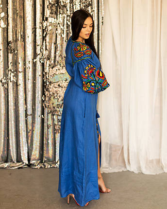 Длинное платья вышиванка в стиле Бохо Колорит, фото 2