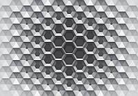 Фотообои абстракция шестигранники 3 D размер 368 х 254 см