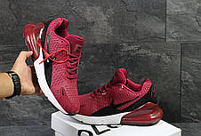 Мужские кроссовки Nike Air Max 270,бордовые 43,45,46р, фото 3