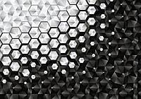Фотообои абстракция шестиугольники 3 D размер 368 х 254 см