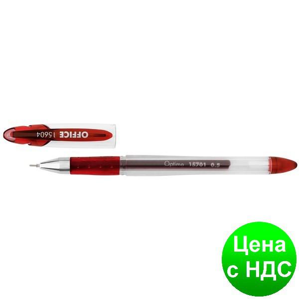 Ручка гелевая OPTIMA OFFICE 0,5 мм, красная O15604-03