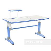 Парта-трансформер для школьника FunDesk Ballare Blue с полкой