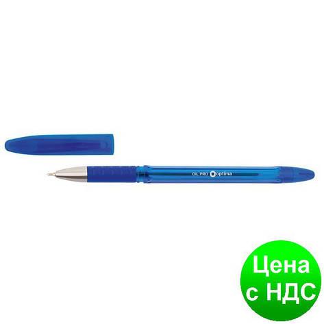 Ручка масляная OPTIMA OIL PRO 0,5 мм, пишет синим O15616-02, фото 2