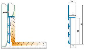 Плинтус на пол б.п L-3,0 мп, фото 2