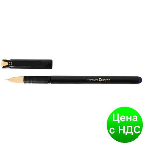 Ручка гелевая OPTIMA FINANTIAL 0,5 мм, пишет черным O15637-01, фото 2