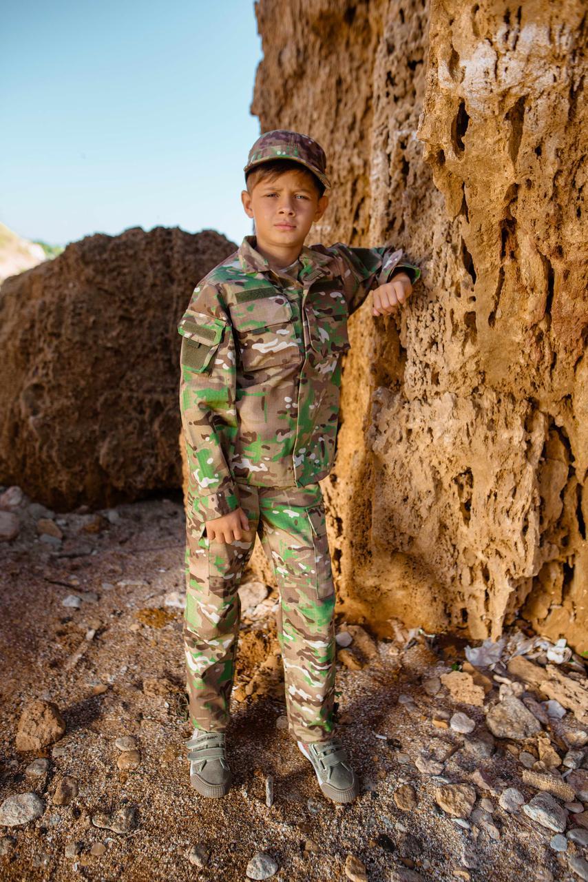 Детский военный костюм для мальчиков Киборг камуфляж Мультикам оригинал