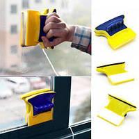 Магнитная щетка для мытья окон с двух сторон Glass Wiper, фото 1