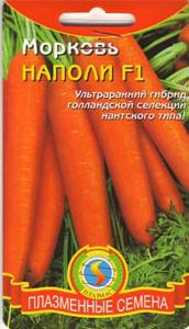 Семена моркови Морковь Наполи F1  140 штук  (Плазменные семена)