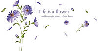 Наклейка виниловая Синие цветы, фото 1