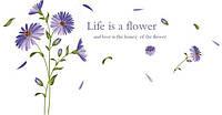 Наклейка виниловая Синие цветы