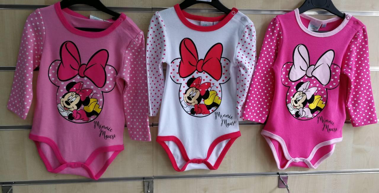 Трикотажные бодики для девочек Disney 68-86 р.р.