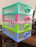 """Комод-органайзер """"Mini Medium"""", пластиковый на 4 секции, разноцветный, фото 2"""