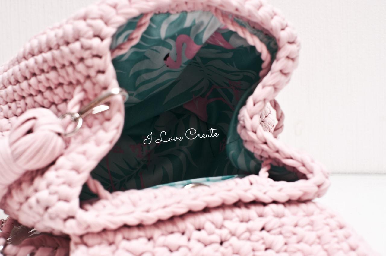 636ae341c0f1 Вязаный рюкзак Cruise Розовый из трикотажной пряжи, цена 1 600 грн., купить  в Киеве — Prom.ua (ID#744480965)