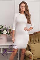 """Элегантное платье """"Илария"""". Распродажа модели молоко, 42"""
