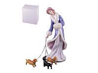 Статуэтка Девушка с собаками 23 см фарфор