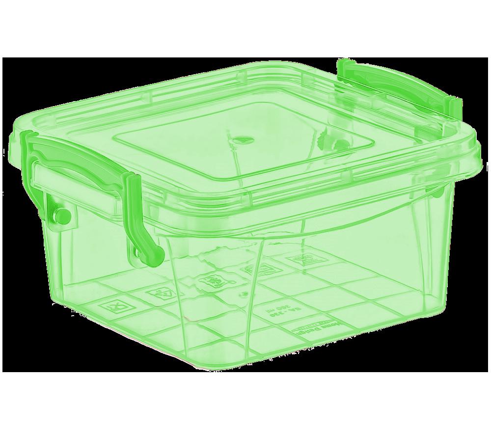 Контейнер на защелках 0,36 л зеленый