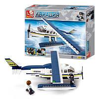 Конструктор SLUBAN M38-B0361Авиация, самолет, фигурки, 214 деталей, фото 1