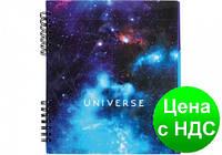 """Блокнот """"Universe"""" 170х205 мм, евроспираль, 120 листов, 3 пластиковых разделителя, клетка с полями, а O20345"""