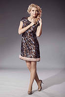Платье с мехом